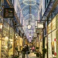 Cardiff Arcade at Christmas painting