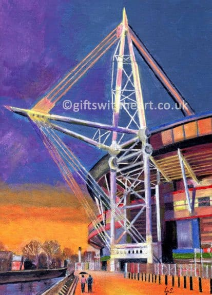 painting of the millenium stadium