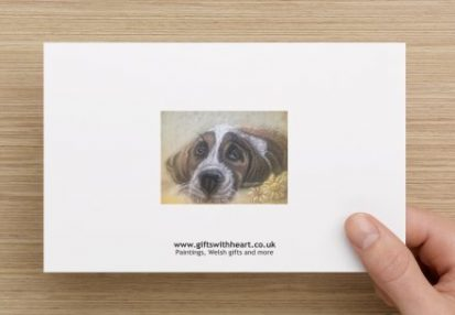 General greeting card of a dog rear