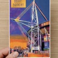 happy birthday card with principality stadium