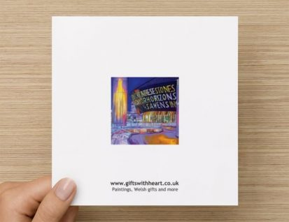 millenium centre general greeting card rear