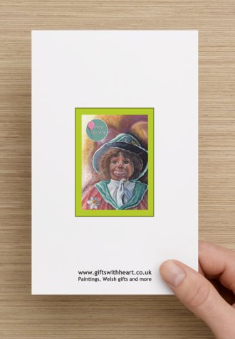 childrens happy birthday card with clown