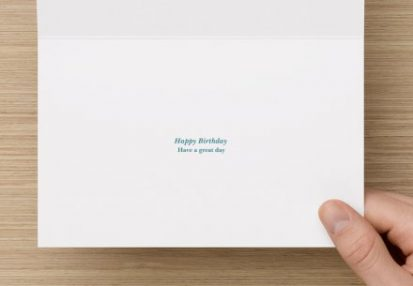 Welsh birthday card with message happy birthday, have a great day in the centre of the card.