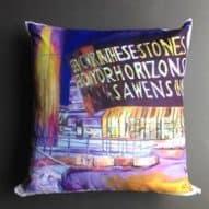 welsh millennium centre cushion