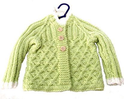 green babies cardigan