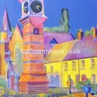 original painting of usk, monmouthshire Wales