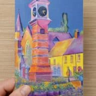 Usk Welsh general greeting card