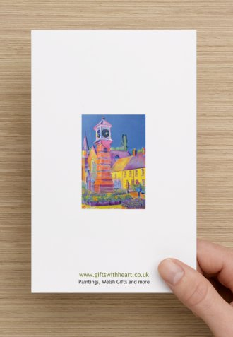 Usk general greeting card rear