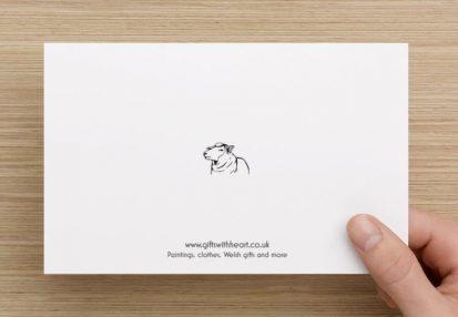 Welsh sheep card funny back