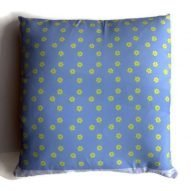 Daffodils cushion blue
