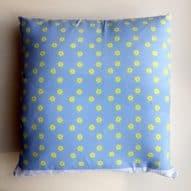 welsh daffodils pattern cushion gift