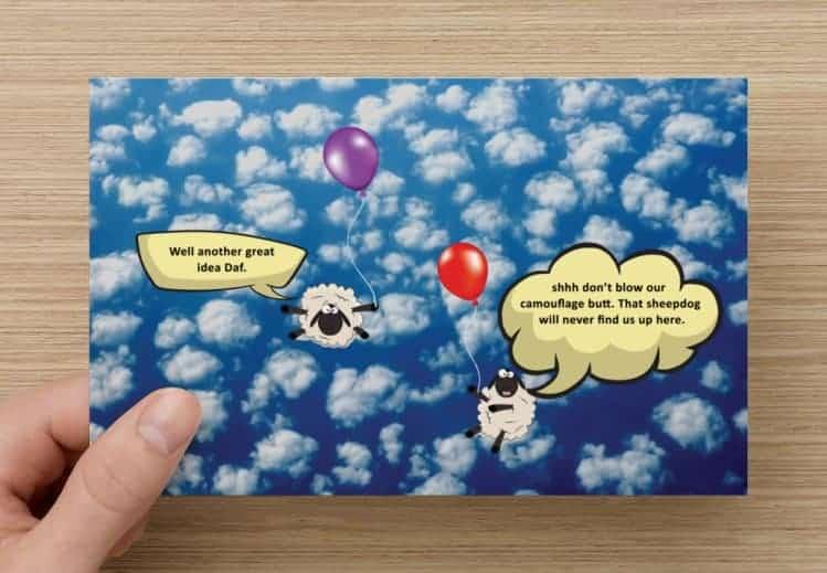 welsh sheep joke card