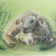 welsh lamb sheep painting gift