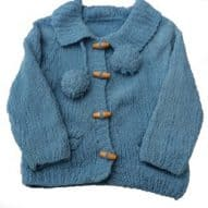 girls woollen jacket with bobbles