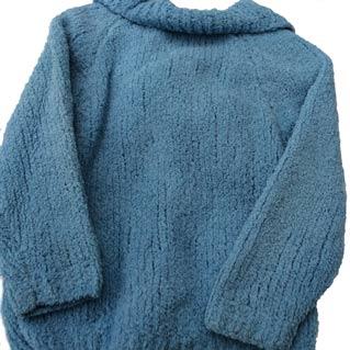 girls blue jacket with bobbles woollen