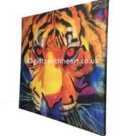 tiger canvas print by gifts with heart
