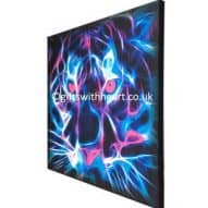 tiger neon canvas print