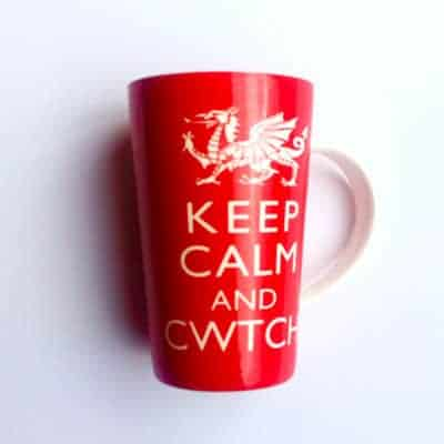 welsh cwtch latte mug