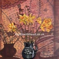 welsh daffodils in a vase painting