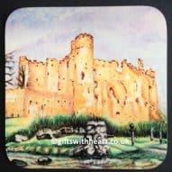 welsh laugharne castle coaster