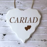 cariad wall plaque sign