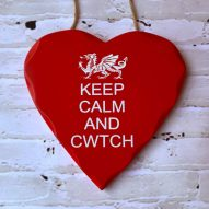 keep calm and cwtch wall plaque sign