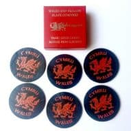 welsh dragon slate coasters