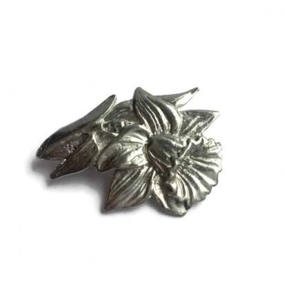 Welsh daffodil brooch in pewter