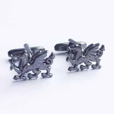 welsh cufflinks welsh dragons, silver