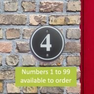 welsh slate house numbers numbers 0-99. welsh slate house signs.