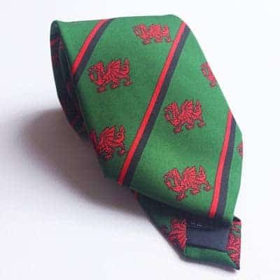 welsh tie with Welsh dragons pattern