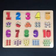 welsh toy number puzzle. welsh language toy.