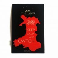 keep calm and cwtch welsh map magnet