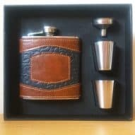 Hip flask gift set 6oz