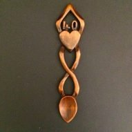 welsh love spoon for 40th birthday or 40th anniversary