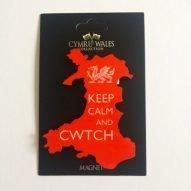 welsh map cwtch magnet souvenir