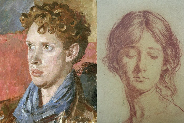 welsh painter augustus john paintings of Dylan Thomas and Grace Westry