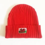 welsh ski hat red with welsh flag