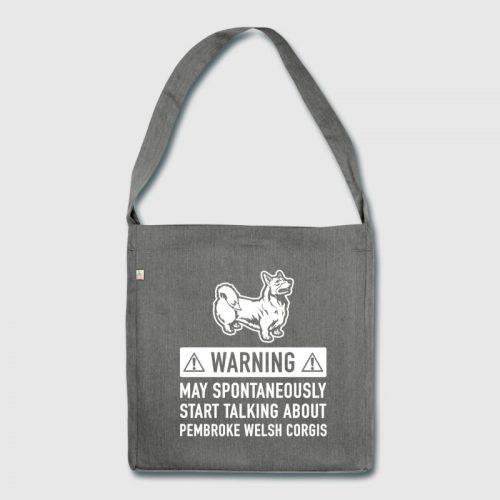 Funny Welsh gifts - corgi bag