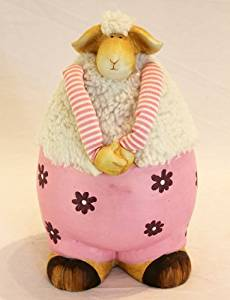 funny welsh gifts pink ceramic sheep