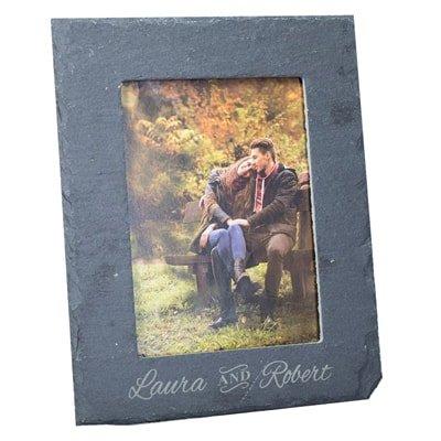 personalised welsh slate gifts. Photo album.