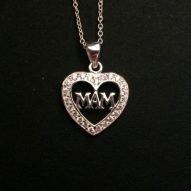 mam necklace. mam jewellery. silver.