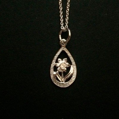 daffodil sterling silver necklace