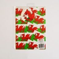 welsh gift bags and wrapping paper. Welsh flag. Welsh gifts