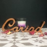 Cariad wood letters decoration. Welsh gifts. Welsh home decor.