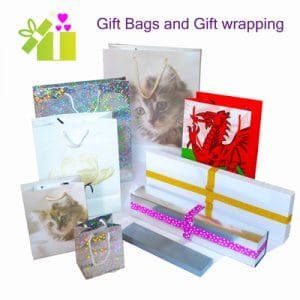 Welsh gift bags, Welsh gift boxes and Welsh gift wrapping. Perfect for your favourite Welsh presents.