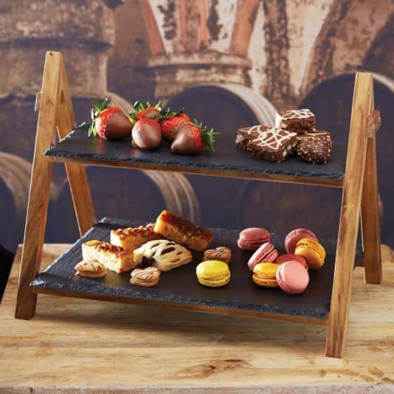 slate tier serving stand. Welsh slate gifts