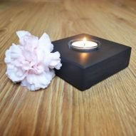 Welsh slate single tealight holder.