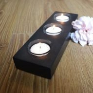 quality made welsh slate three tealights holder