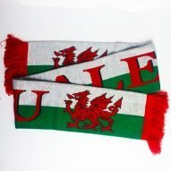 welsh scarf. Welsh rugby scarf. Welsh football scarf.